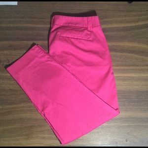 J. Crew City Fit Pink Cropped Stretch Pants 6